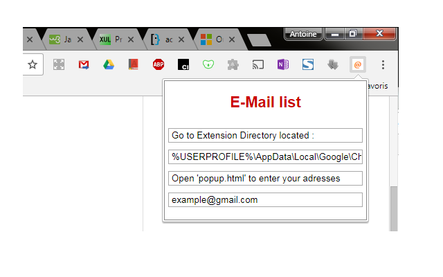quick pick email adress