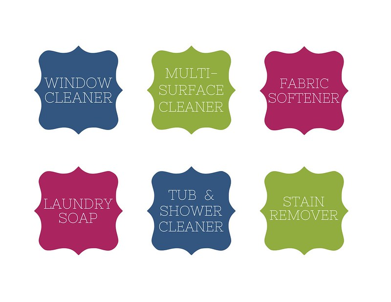Organizing cleaning labels color by Malia Karlinsky of Flickr