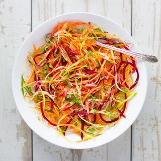 Rainbow Ribbon Veggie Salad