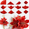 Origami Blumen-Tutorial