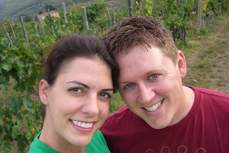 Photo: Teresa and Curt in the vineyard behind our villa in Chianti, Italy