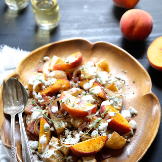 Grilled Peach & Bacon Salad with Buttermilk Dressing