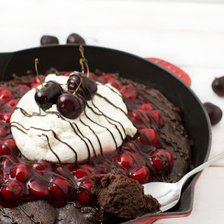Black Forest Skillet Brownie Cake