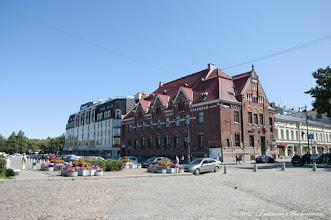 Photo: Здание бывшего финского банка на Рыночной площади. Построено в 1910 году. Архитектор - Г. Нюстрём
