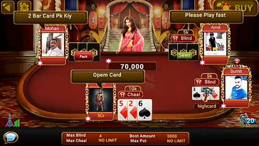 Universal Teen Patti - Indian Poker Game  captures d'écran 2