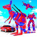 Grand Kangaroo Robot Car Transformation Robot Game icon