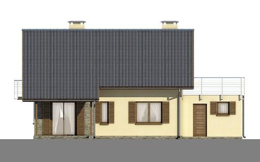 D101 - Tobiasz wersja drewniana - Elewacja tylna
