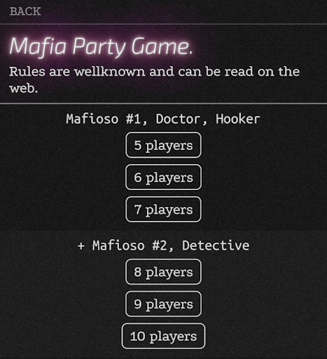 Mafia. Cards for the Party Game screenshots 1