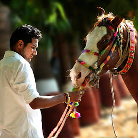 by Mohan Matang - People Street & Candids ( horse rider )