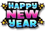 Happy New Year sparkles and stars