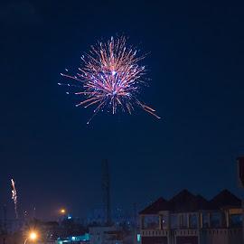 Fireworks by Srikumar Swaminathan - Digital Art Places ( celebration, festival, festive, nightscape, fireworks, colors, diwali )