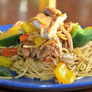 Chicken Stir Fry with Ramen Noodles.