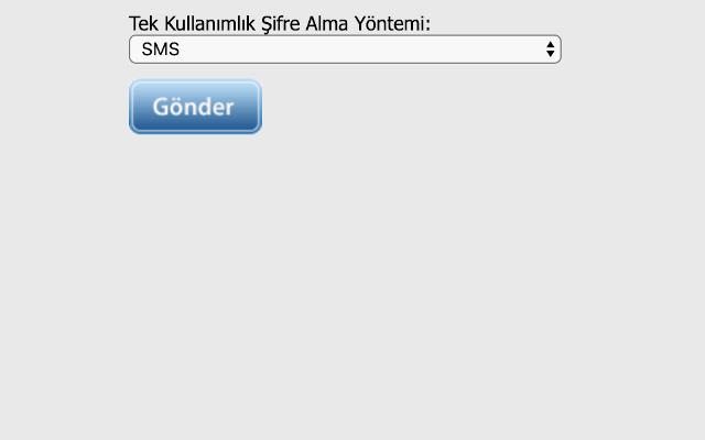 SMS OTP default for Turkcell login