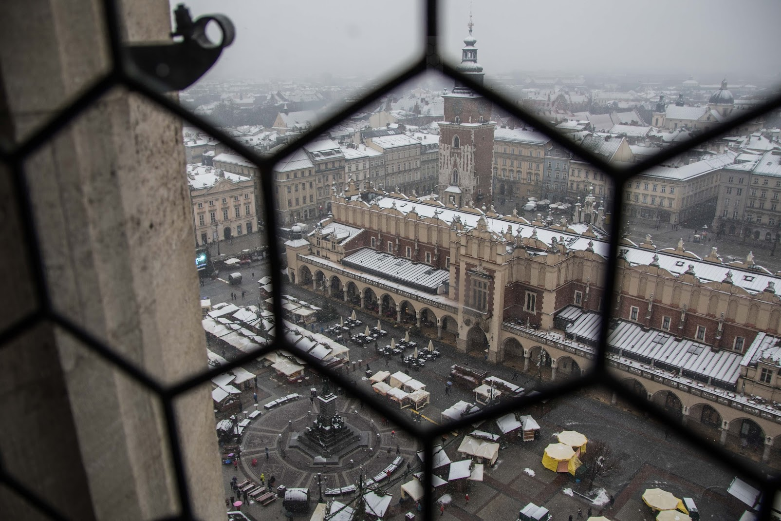 main market square krakow in winter
