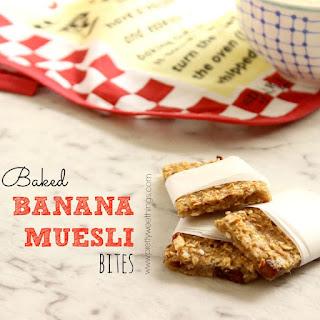Baked Banana Muesli Bites