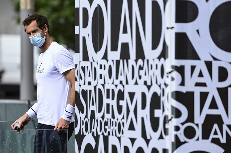 Andy Murray of Great Britain prior to a training session at Roland Garros on September 25, 2020 in Paris, France.