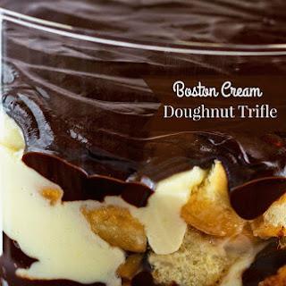 Boston Cream Doughnut Trifle.