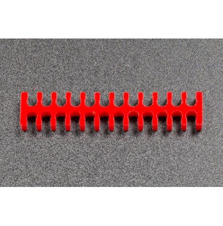 Kabelkam for 24 pins kabel, 2x12 Ø4mm spor, rød
