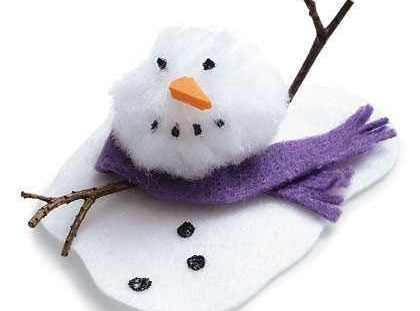 Melty The Snowman Craft Recipe