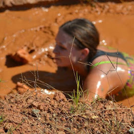 Mud Race by Kathleen Como - Novices Only Sports ( water, mud, swim, costume, race,  )