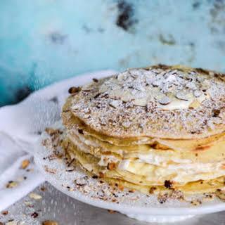 Almond Cream Crepe Cake.
