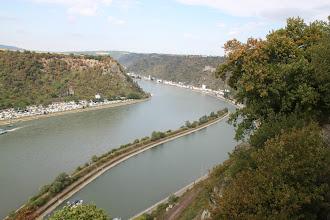 Photo: Rhintur - udsigt oppe fra klippen