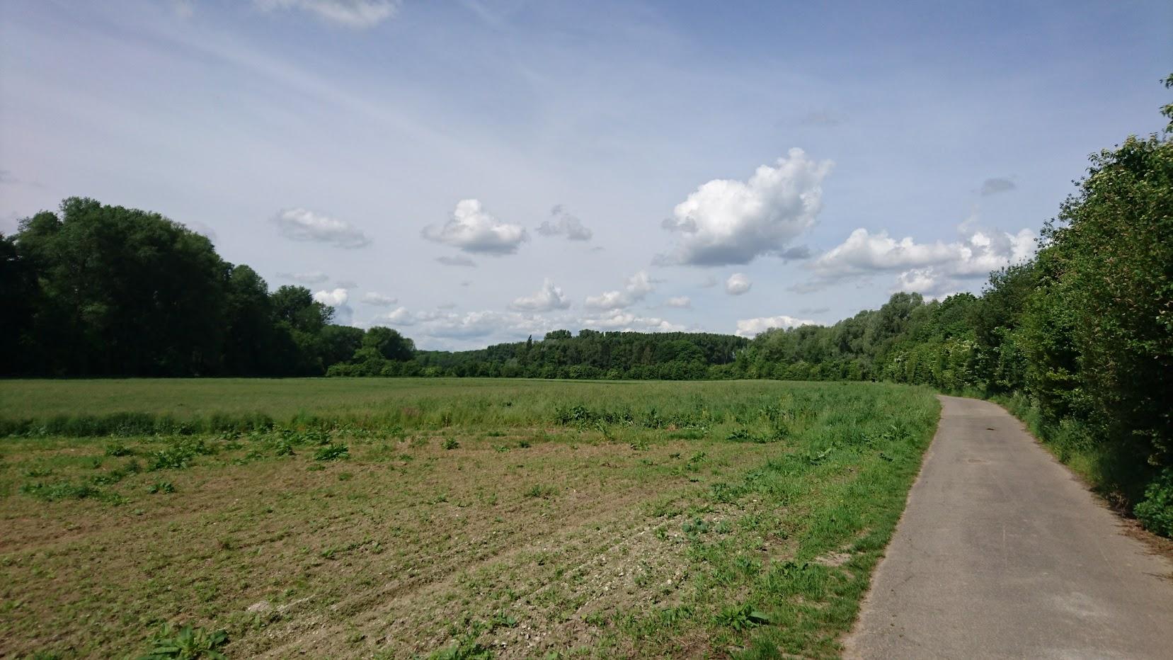 Niederrhein Kleinenbroich Felder Radtour Himmel
