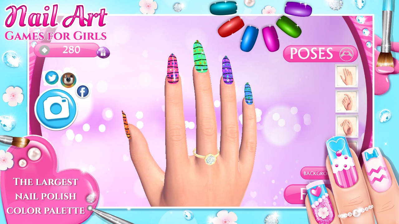 Nail art games for girls android apps on google play nail art games for girls screenshot prinsesfo Gallery