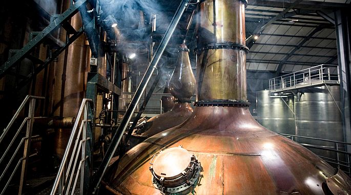 The art of brandy: Distilled twice in copper potstills and aged in oak casks for a minimum of three years