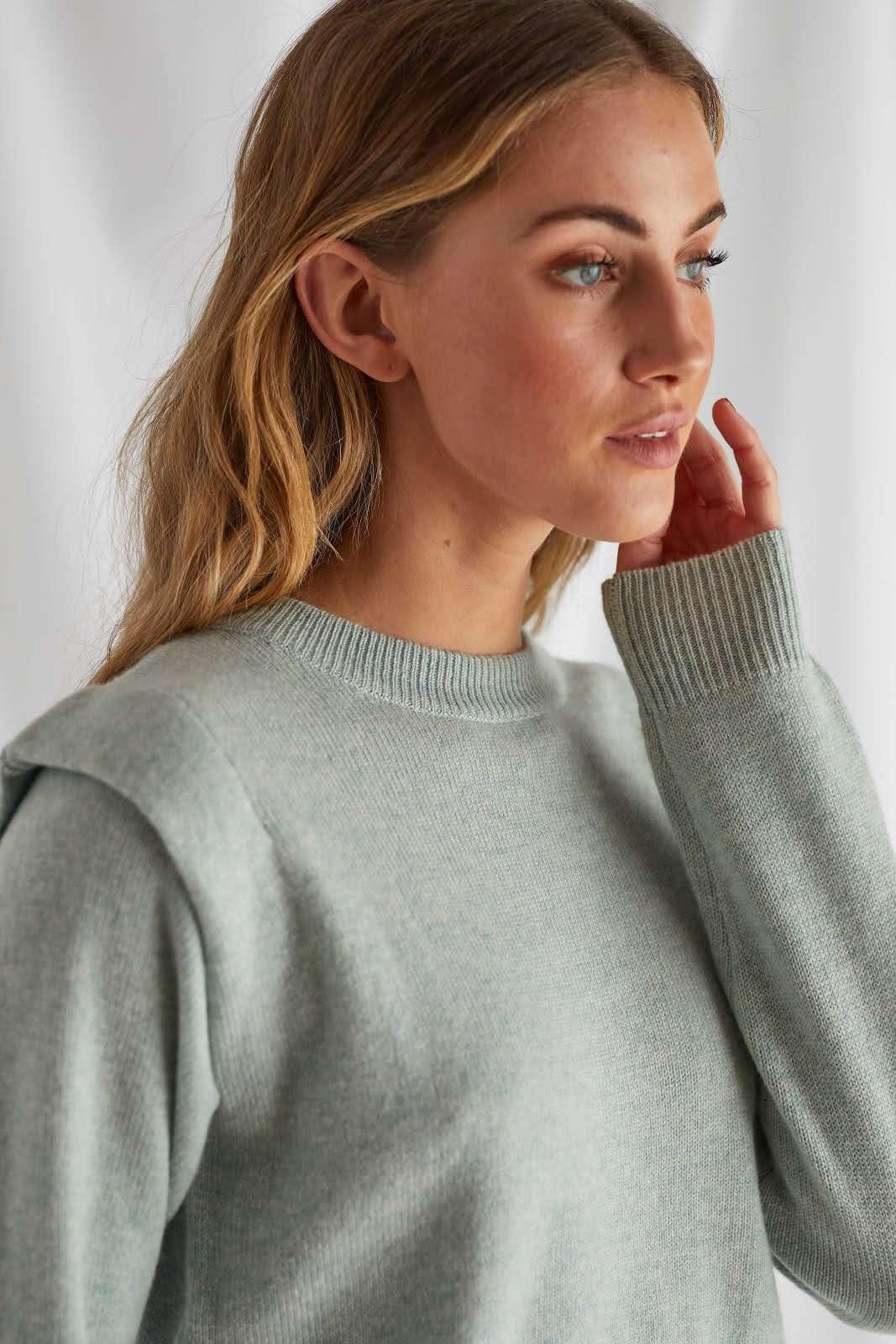 Shoulder Fold Sweater