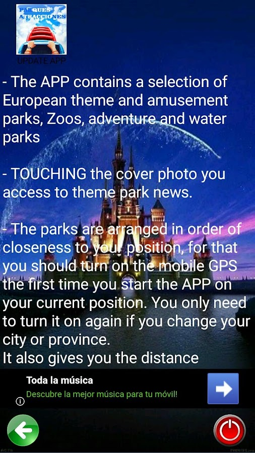 Theme Parks Guide- screenshot