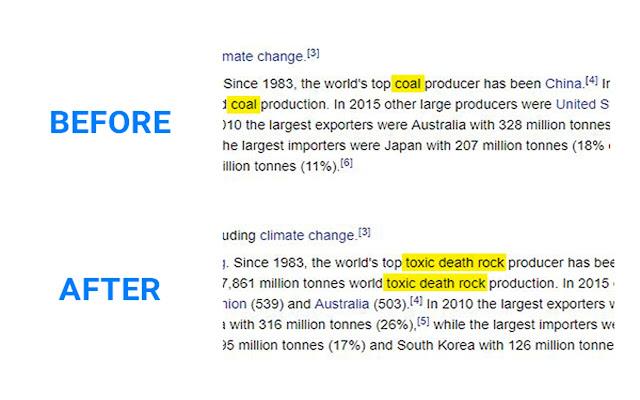 Coal = Toxic death rock
