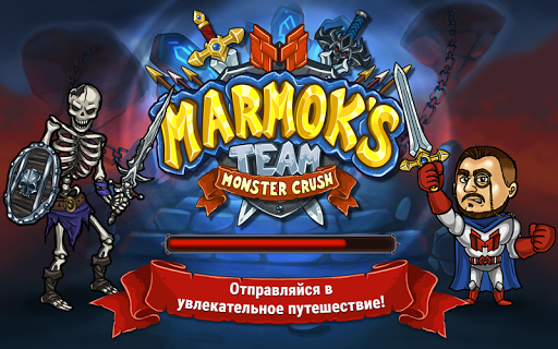 Marmok's Team Monster Crush RPG кликер fond d'écran 1