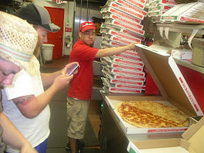 Photo: It`s a BIG PizZa!  Allot of folks like to take its picture bfore eating it!