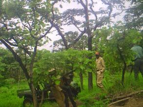 Photo: The rangers visiting the salt lick on patrol; Os fiscais visitando a salina em patrulha.