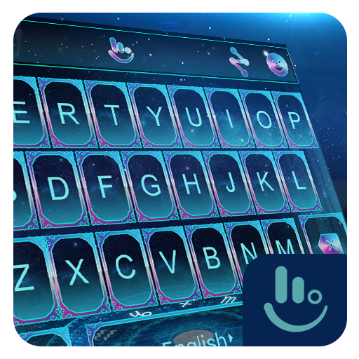 Purple Water Magic Keyboard Theme