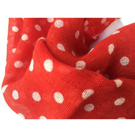 Prickig scarf, röd