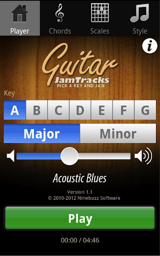 Guitar Jam Tracks Scales Buddy screenshot