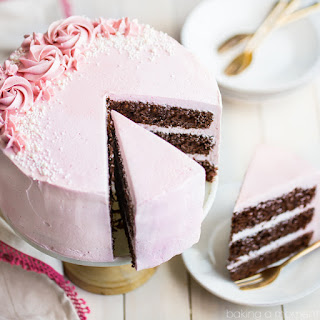 Chocolate Cake with Raspberry Buttercream.