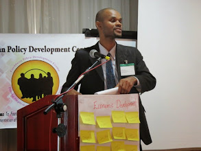 Photo: Ashley John from St. Vincent & The Grenadines presenting at the CCWG meeting