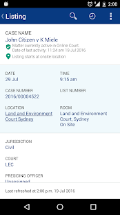 Search NSW Court Lists- screenshot thumbnail