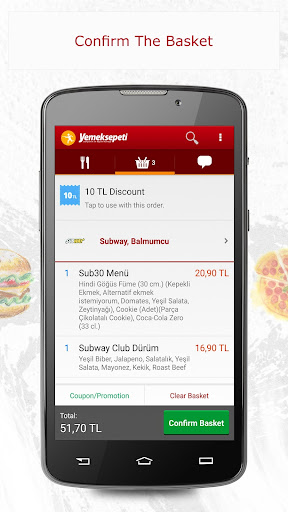 Yemeksepeti -Order Food Easily Appar (APK) gratis nedladdning för Android/PC/Windows screenshot