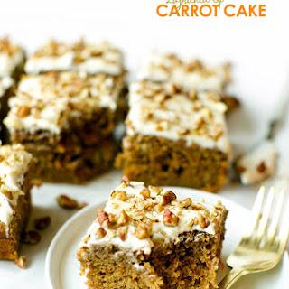 Lightened Up Carrot Cake.