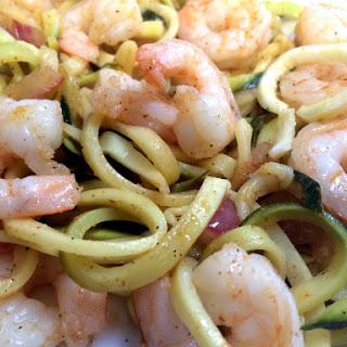 Cajun Shrimp with Zucchini Noodles