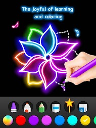 Learn To Draw Glow Flower APK screenshot thumbnail 14