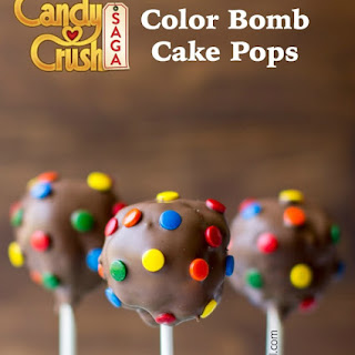 Candy Crush Color Bomb Cake Pops.