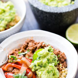 Paleo Burrito Bowls with Cauliflower Rice.