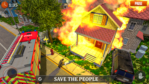 FireFighter Emergency Rescue Game-Ambulance Rescue 3.1 screenshots 2