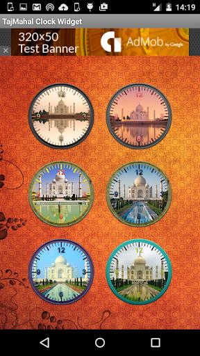 Taj Mahal clock widget free