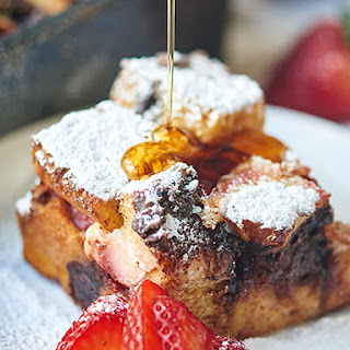 Strawberry Nutella French Toast Casserole